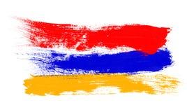 armenisk flagga royaltyfri illustrationer
