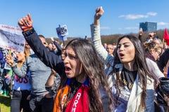 Armenisk folkmordprotest Arkivbild