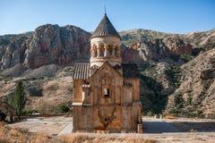 Armenisk kloster mellan bergen Royaltyfri Bild
