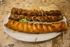 Armenisk unik fisk och krabba Kabab arkivfoto