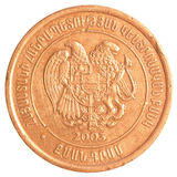 20 armeniska dollar mynt Arkivbild