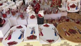 Armeniska symboliska gåvor som väntar på köparen på ståndet I Royaltyfria Bilder