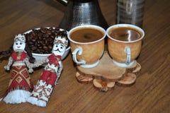 Armeniskt morgonkaffe på en tabell arkivfoton