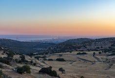 Armenochuri, una vista de la costa en la puesta del sol Imagen de archivo libre de regalías