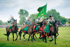 armerade följecossacks Royaltyfria Foton