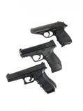 3 armes à feu Photographie stock