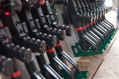 Armes à feu d'étiquette de laser Photos stock
