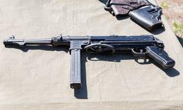 Armes à feu de vintage Mitraillette allemande Image libre de droits
