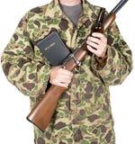 Armes à feu et entrailles de Dieu d'isolement Images stock