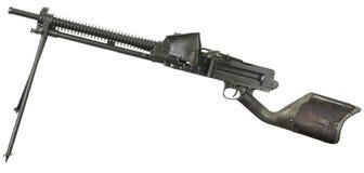 Armes à feu et mitrailleuse sur un fond blanc Image libre de droits