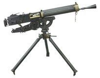 Armes à feu et mitrailleuse sur un fond blanc Photos stock