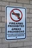 Armes à feu interdites Photos stock