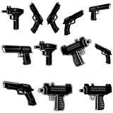 Armes à feu réglées Photographie stock libre de droits