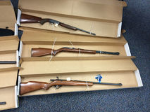 Armes à feu saisies Images stock