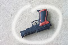 Armes à feu utilisées pour la cause image libre de droits
