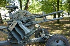 Armes à feu WW2 antiaériennes Images stock