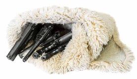 Armes blanches de fond passant des armes à feu en contrebande image stock