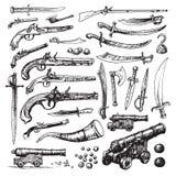 Armes de pirate Images libres de droits