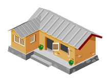 Armes Haus-isometrischer Vektor Lizenzfreie Stockfotos