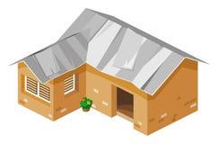 Armes Haus-isometrischer Vektor Stockbild