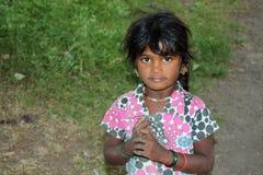 Armes indisches Mädchen Stockbild
