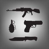 Armes militaires pour la guerre Image libre de droits