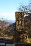Armeński średniowieczny krzyża kamień Obrazy Royalty Free