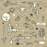 Armi impostate Fotografia Stock