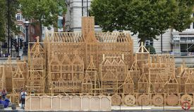 Armi in legno il fuoco grande di commemorazione di modello sviluppato di Londra 1666 Immagini Stock Libere da Diritti