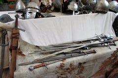 Armi medievali Arkivfoto