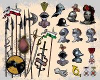 Armi medioevali illustrazione di stock