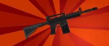 Armi protesta di colpo di guerra del fucile di assalto la forte delle forze della propaganda rossa militare di rivoluzione Immagine Stock Libera da Diritti