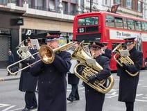 Armia Zbawienia mosiężny zespół w Londyn Zdjęcia Royalty Free