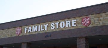 Armia Zbawienia sklepu Rodzinny znak Obraz Stock