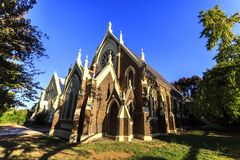 Armidale Uniting Church Present Temple. View of the present Uniting Church, built in 1893 in Gothic Revival architecture in Armidale, NSW, Australia stock photography