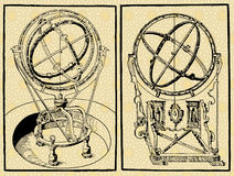 Armilar spheres Stock Images