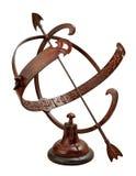 armilarny ścinku ścieżki sundial Zdjęcie Royalty Free