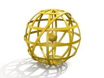 armillary guld- sphere royaltyfri illustrationer