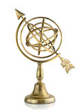 Armillary sphere. Vintage armillary sphere isolated on white background Royalty Free Stock Image
