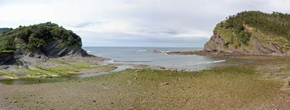 Armintza Beach Panorama Stock Image