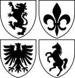 armlaget krönar heraldisk eps Royaltyfri Fotografi