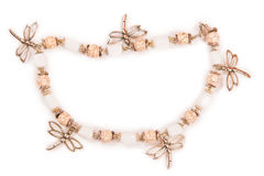 Armlet βραχιολιών κοσμημάτων που απομονώνεται στο άσπρο υπόβαθρο Στοκ εικόνα με δικαίωμα ελεύθερης χρήσης