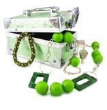 armlet πράσινος απομονωμένος ελαφρύς κορμός χαντρών Στοκ Εικόνα