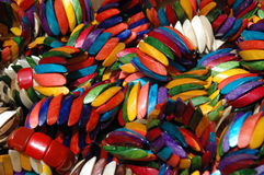 Armlets of many colors Royalty Free Stock Image