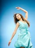 armmode hoppar model övre Royaltyfri Fotografi