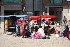 Armod i gator av Bolivia Arkivbild