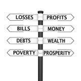 armod vs rikedom Arkivbild