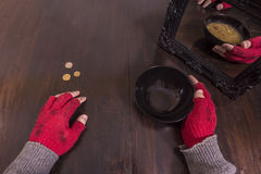 Armoede en illusieconcept stock foto's