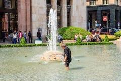 Armoede in Milaan, Italië Royalty-vrije Stock Foto's