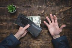 armoede schulden besparingen royalty-vrije stock afbeeldingen